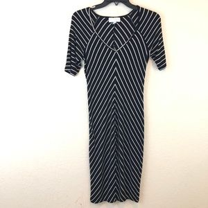 Jessica Simpson Small Dress Black Stripped